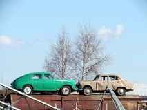 Vieux véhicules soviétiques Photographie stock