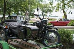 Vieux vélo allemand de guerre sur l'exposition en Serbie Photos libres de droits