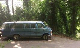 Vieux van car abandonné Photographie stock