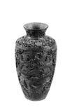 Vieux vase sur le fond blanc Images libres de droits