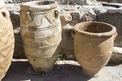 Vieux vases à argile, préservés de l'antiquité Images libres de droits