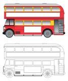 Vieux vecteur de bus de Londres Image libre de droits