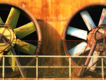 vieux vent de turbine Photographie stock libre de droits