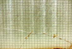 Vieux verre dans le balcon 2 photos stock