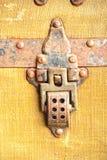 Vieux verrou de coffre Image stock