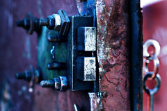 Vieux verrou de porte rouillé Photographie stock