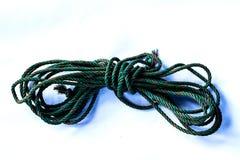 Vieux vert de corde Image libre de droits