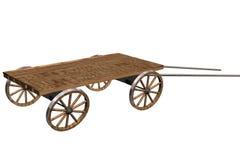 Vieux véhicule sur un fond blanc. image 3D. Image stock