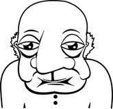 Vieux vieil homme chauve Image libre de droits