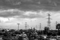 Vieux village avant la tempête Image libre de droits