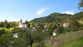 Vieux village d'exploitation Images stock