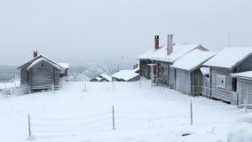 Vieux village d'hiver Image stock