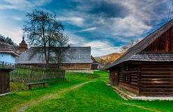 Vieux village dans la station thermale de Bardejovske Photographie stock libre de droits
