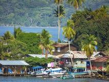 Vieux village de banque, Bastimentos, Panama Photo stock