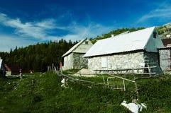 Vieux village de montagne Photos stock