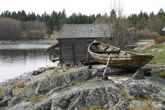 Vieux village de pêche Images libres de droits
