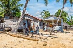Vieux village de pêche du Madagascar Photographie stock