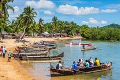 Vieux village de pêche du Madagascar Photo libre de droits