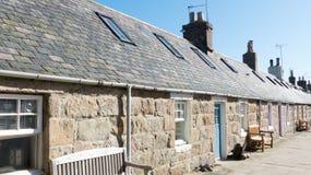 Vieux village de pêche près d'Aberdeen, Ecosse Image libre de droits