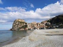 Vieux village de pêche de Scilla images libres de droits