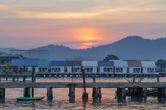 Vieux village de pêcheur Photos libres de droits