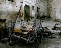 Vieux village de turc de chariot Images libres de droits