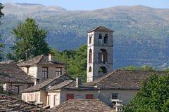 Vieux village en pierre Dilofo Zagoria Photographie stock libre de droits