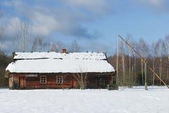 Vieux village polonais traditionnel Image stock