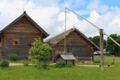 Vieux village russe Photos stock