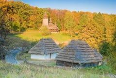 Vieux village traditionnel Images libres de droits