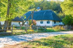 Vieux village traditionnel Photo stock