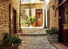 Vieux village traditionnel Image libre de droits