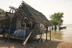 Vieux villages de pêche image stock