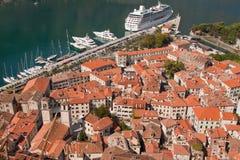Vieux-Ville de Kotor Images libres de droits