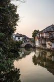 Vieux-ville du tongli, villages antiques à Suzhou Images stock