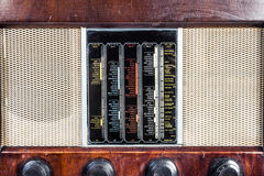 Vieux vintage par radio classique images stock