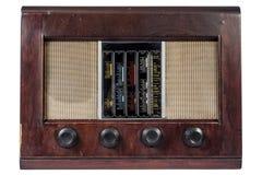 Vieux vintage par radio classique d'isolement Images libres de droits