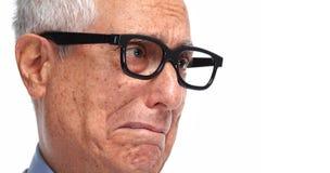 Vieux visage d'homme Image stock