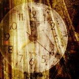 Vieux visage d'horloge Image libre de droits