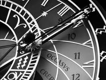 Vieux visage d'horloge avec les chiffres romains image stock