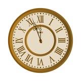 Vieux visage d'horloge de cru illustration libre de droits