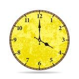Vieux visage d'horloge de vecteur Vieilles périodes Photo stock