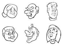 Vieux visages Photo libre de droits