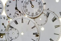 Vieux visages de montre Image libre de droits