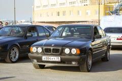 Vieux-voiture BMW 5 séries e34 Photographie stock libre de droits