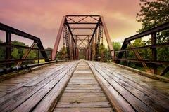Vieux volez le pont photographie stock