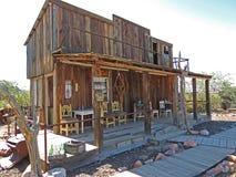 Vieux wagon-restaurant occidental de mineurs image stock