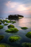 Vieux waterbreak Images stock