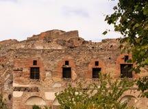 Vieux Windows à Pompeii photographie stock libre de droits