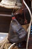 Vieux wineskin Photographie stock libre de droits